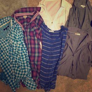 Bundle of 6 women's shirts.